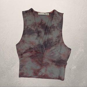 Wilfred Sleeveless Tie Dye Crop Top